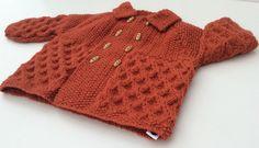 SALE   Dark orange coat for babies vintage by IncywincyCashmere