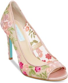 700ace6c0be4 Blue by Betsey Johnson Adley Embroidered Evening Pumps - Pink 10M. Pump  ShoesShoes adsWomen s ...