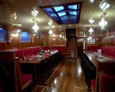 Dutch Barge, Sailing Trips, Open Plan, Liquor Cabinet, Home Decor, Ships, Decoration Home, Room Decor, Open Floor Plans