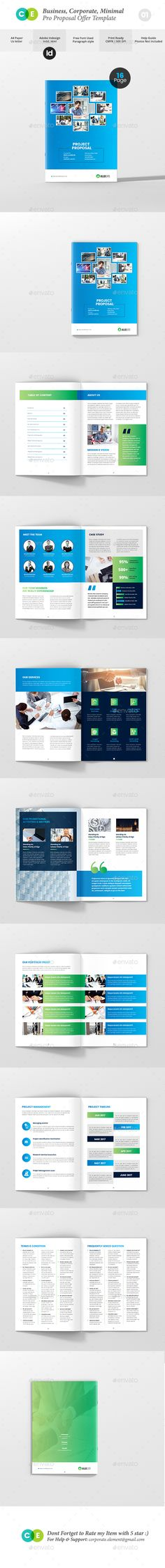 Proposal Bundle  Proposals Proposal Templates And Brochure Template