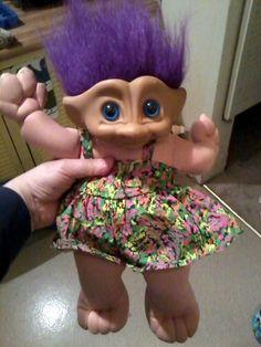 Big Blue Eyed Ace Novelty Co Troll Doll by GiddyupRescue on Etsy