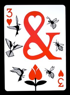 "ncyclopedia: "" Year Week The Three of Hearts Paper x Copyright © 2012 Emmanuel Jose. Unique Playing Cards, Hearts Playing Cards, Playing Cards Art, Custom Playing Cards, Playing Card Design, Printable Playing Cards, Vintage Tarot Cards, Play Your Cards Right, Joker Card"