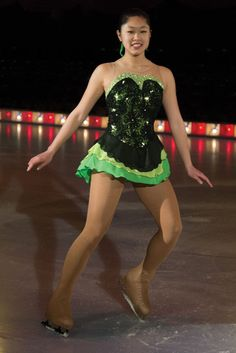 COMPETITION SKATING DRESS JERRY 656 LIME LANAI MADE ORDER 3 WEEKS FABRICATION