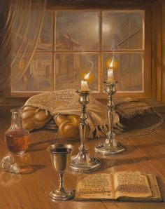 Are you a contemporary jewish art lover? Buy jewish art and jewish life paintings from the great range of selection. Visit online our official website and select the elegant jewish painting for yourself. Jewish Sabbath, Good Shabbos, Arte Judaica, Temple In Jerusalem, Religion, Hanukkah Gifts, Shabbat Shalom, Sabbats, Jewish Art