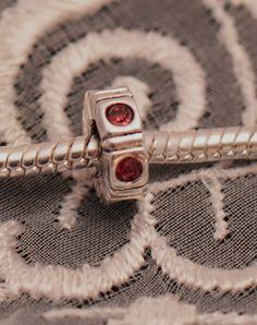 Pink Cubic Zirconium CZ Spacer Charm / Bead by grammysattic12, $14.99