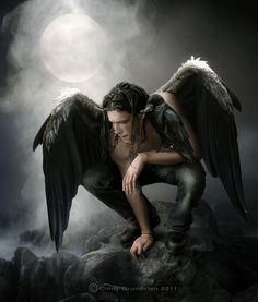 Always love a pic of a male dark angel Male Angels, Angels And Demons, Ozzy Osbourne, Inspiration Artistique, Ange Demon, Celtic Mythology, Tatoo Art, Gods And Goddesses, Fantasy World