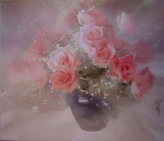 Liu Yi flower watercolor