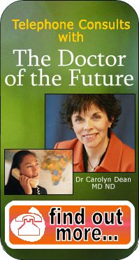 website to Dr. Carolyn Dean -- Naturapath  -- magnesium deficiency to treat depression and other problems