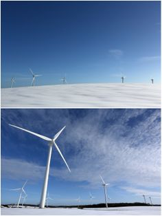 County Durham Commercial Photographer | Sedgefield Wind Turbines in the Snow | © 2013 Dave Charnley Photography Ltd  Mobile: 07753559235 Office: 01642586269 www.davecharnleyphotography.com