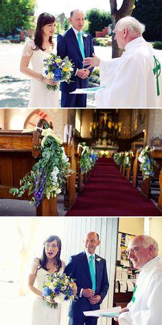 Bridal Bouquet Blue Hydrangea Cornflower Blue Delphinium And Yellow Freesia   Rock My Wedding