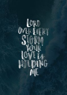 your love is holding me