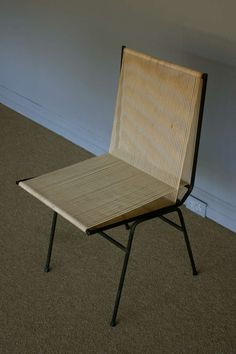 Allan Gould; Enameled Metal and Cord Sidechair, 1950s.