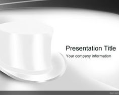 Top White Hat background #free #PowerPoint #background