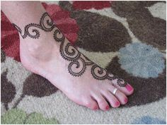 Mehndi Designs Feet N : Latest cute feet mehndi designs henna youtube