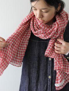 [Envelope Online Shop] Echarpe gauze・check Lisette