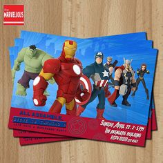 Avengers Invitation Avengers Party Avengers by TheMarvellous