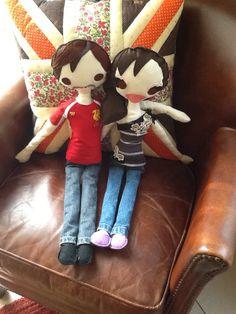 Em Teacup personalised mr & Mars rag dolls