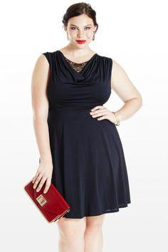 Ribbon and Melody Lace Plus Size Dress