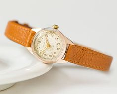 Tiny women watch Spring Gold shade small women's watch