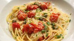 Quick Cherry Tomato Sauce and Spaghetti