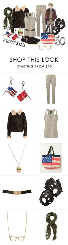 """""""America (Alfred F. Jones) from Hetalia: Axis Powers"""" by likeghostsinthesnow ❤ liked on Polyvore featuring Amore La Vita, Ralph Lauren Blue Label, Rut m.fl., G-Star Raw, Free People, Topshop, Aspinal of London, Pieces, Forever New and TOMS"""