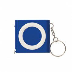 Customized Revolution Tape Measure Key Light - Blue - Tape Measures Keychains