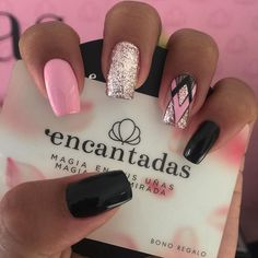 Pink Gel Nails, Almond Acrylic Nails, Aycrlic Nails, Bling Nails, Nail Manicure, Diy Nails, Hair And Nails, Jamberry Nails, Coffin Nails