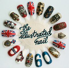 theillustratednail:    JUBILEE!    The flag bunting on the bottom left, I'm swooning!