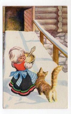 Vintage Postcards, Gnomes, Vintage Christmas, Auction, Manga, Vintage Travel Postcards, Manga Anime, Manga Comics, Old Time Christmas