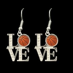 Love Basketball Earrings