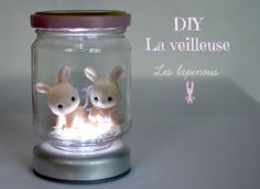DIY nightlight tutorial in French -faire une veilleuse Diy Projects To Try, Projects For Kids, Diy For Kids, Craft Projects, Crafts For Kids, Cute Crafts, Diy And Crafts, Kawaii Diy, Diy Bebe