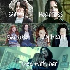 The truest and most beautiful love story there is. Snape allowed his true love to be lost in order for her to marry the one she loved (the one he hated the most) in order for her to be happy and for Voldemort to be vanquished 20+ years later. This cost him everything. Yet he never once turned his back on her and let his heart die with her but continued to look after her child from a distance for the next 18 years until he finally died in a way in which he believed to be worthy of her love.