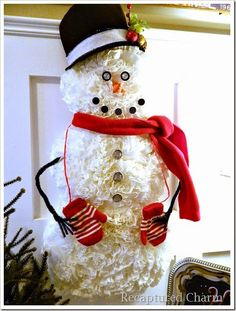 how to make a plastic cup snowman step by step