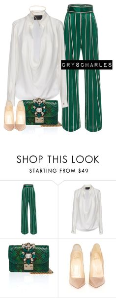 """Untitled #1220"" by cryscharles ❤ liked on Polyvore featuring Philipp Plein and Christian Louboutin"