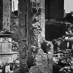 "The Gothic ""Madonna in the Ruins"" at St. Kolumba Church in the spring of 1945 (Photo: Hermann Claasen)"