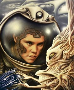 Jim Burns is a science fiction illustrator and fantasy artist specialising in book cover art and specially commissioned paintings for collectors of SF and fantasy art. Arte Sci Fi, Sci Fi Art, Arte Tribal, Aliens And Ufos, Science Fiction Art, Book Cover Art, Retro Futurism, Dieselpunk, Comic Art
