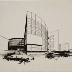 Bauhaus master Walter Gropius' submission to the Palace of the Soviets competition, 1931