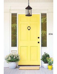 Canary-Yellow Front Doors