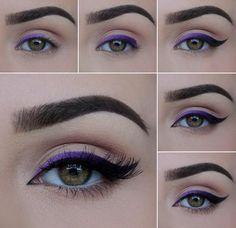 color to black eyeliner... so pretty!