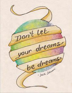 Dreams- Watercolour Illustrated Jack Johnson Lyric