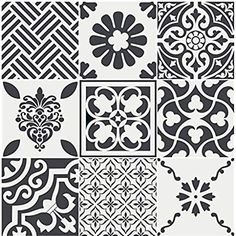 Kitchen bathroom Tile Decals Vinyl Sticker : by SnazzyDecal Tile Decals, Wall Tiles, Vinyl Decals, Kitchen Tiles, Kitchen And Bath, Tuile, Stair Risers, Linoleum Flooring, Floors