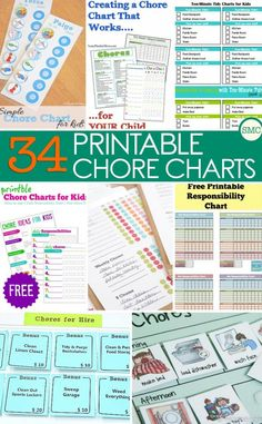 Household Chore Charts: Free Printable Charts for Children