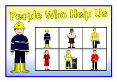 A set of printable bingo picture boards where children can match picture or word cards to the people who help us. Bingo Pictures, Preschool Pictures, 999 Emergency, Community Jobs, Finger Gym, People Who Help Us, Community Helpers Preschool, Page Borders, School Displays