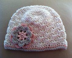 Crochet Baby Girl Hat by BettyBoopCrochet on Etsy.
