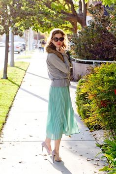 I adore the mint skirt!
