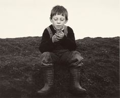 """Chris Killip Rocker and his Toad, Seacoal Camp, Lynemouth, Northumberland, 1983"""