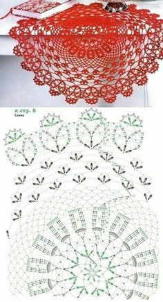 Filet Crochet, Crochet Doily Diagram, Crochet Mandala Pattern, Crochet Stitches Patterns, Crochet Chart, Crochet Designs, Stitch Patterns, Crochet Books, Crochet Home
