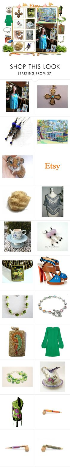 """""""Etsy ... """"Delight"""""""" by sylvia-cameojewels ❤ liked on Polyvore featuring Christian Louboutin and Maje"""
