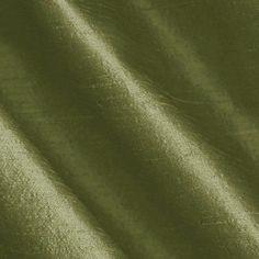 Dupioni Silk Fabric Iridescent Olive
