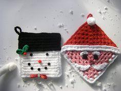 crochet christmas potholder patterns | Found on sewritzytitzy.blogspot.ca